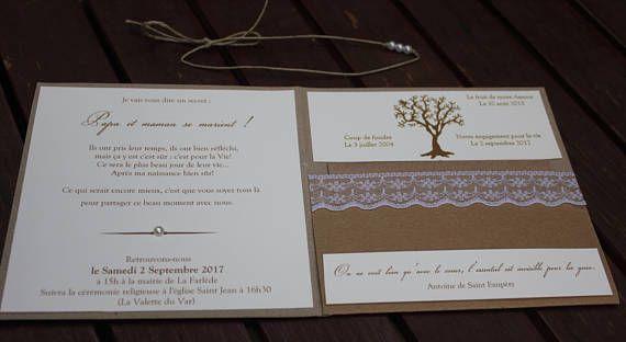 3 premium kraft and lace invitation | rustic chic wedding