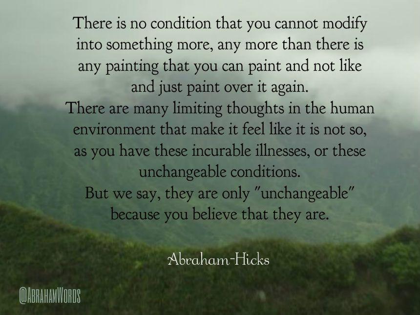 Risultato immagini per incurable abraham hicks quote