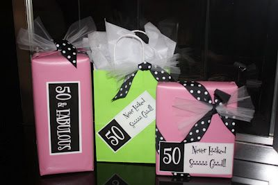 Custom Gift Wrap For A 50th Birthday