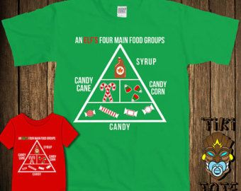 Funny Elf s Four Main Food Groups Christmas Bodysuit Toddler Youth T-shirt  Tee Shirt Buddy The Elf Elves Santa Cute Infant Clothes Gift d0156c581