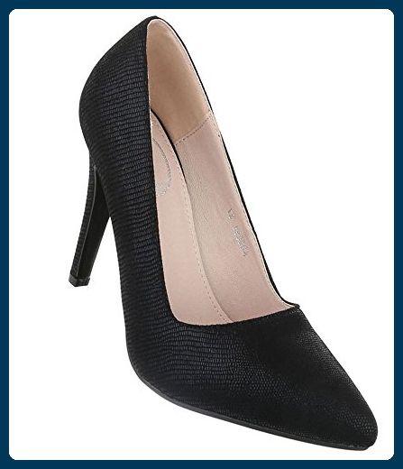 38d5a49eb63f Damen Pumps Schuhe Elegant High Heels Grau 36 Schuhcity24 ...
