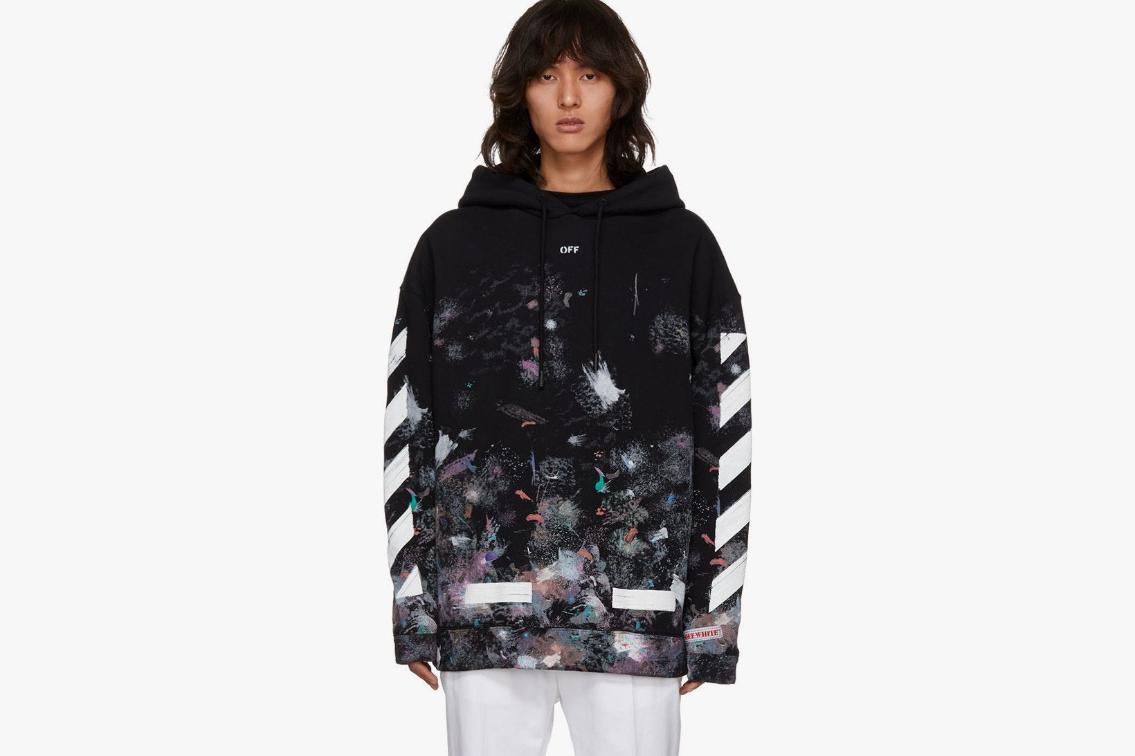 Ssense Exclusive Off White Galaxy Hoodie T Shirt Now Available For Purchase Off White Hoodie Galaxy Hoodie White Hoodie [ 1093 x 1640 Pixel ]