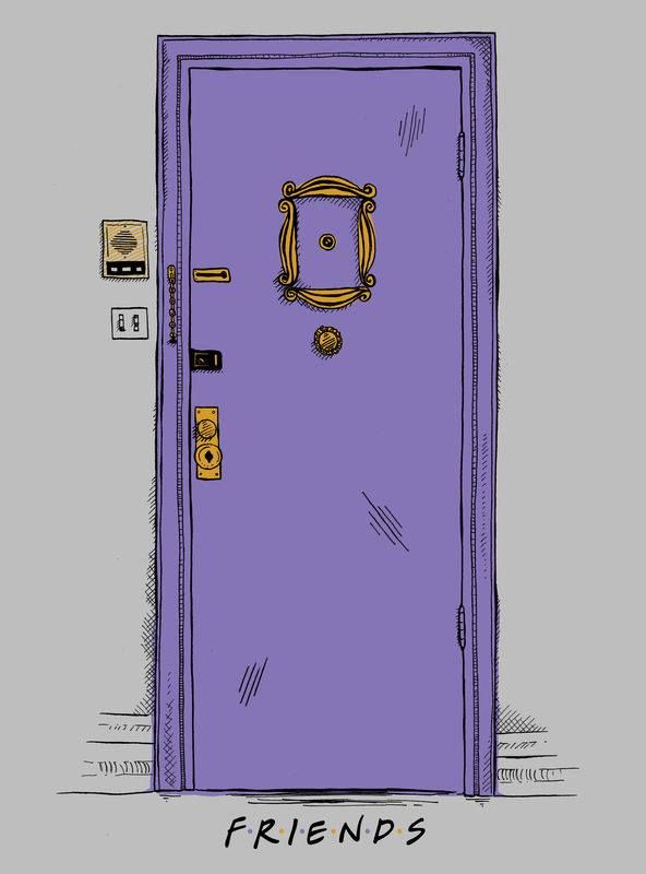 Friends Minimalist poster #FriendsStuffs #FriendsMinimalistPoster #FriendsTVPoster : friends door - pezcame.com