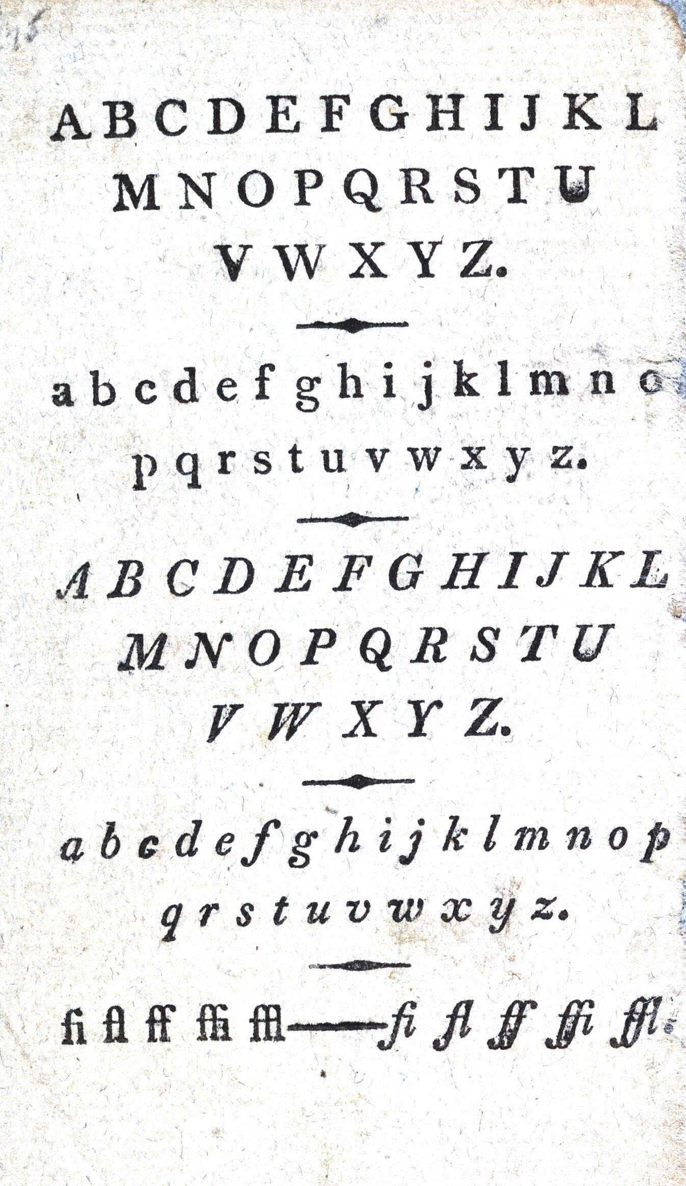 Typography Alphabet 1813