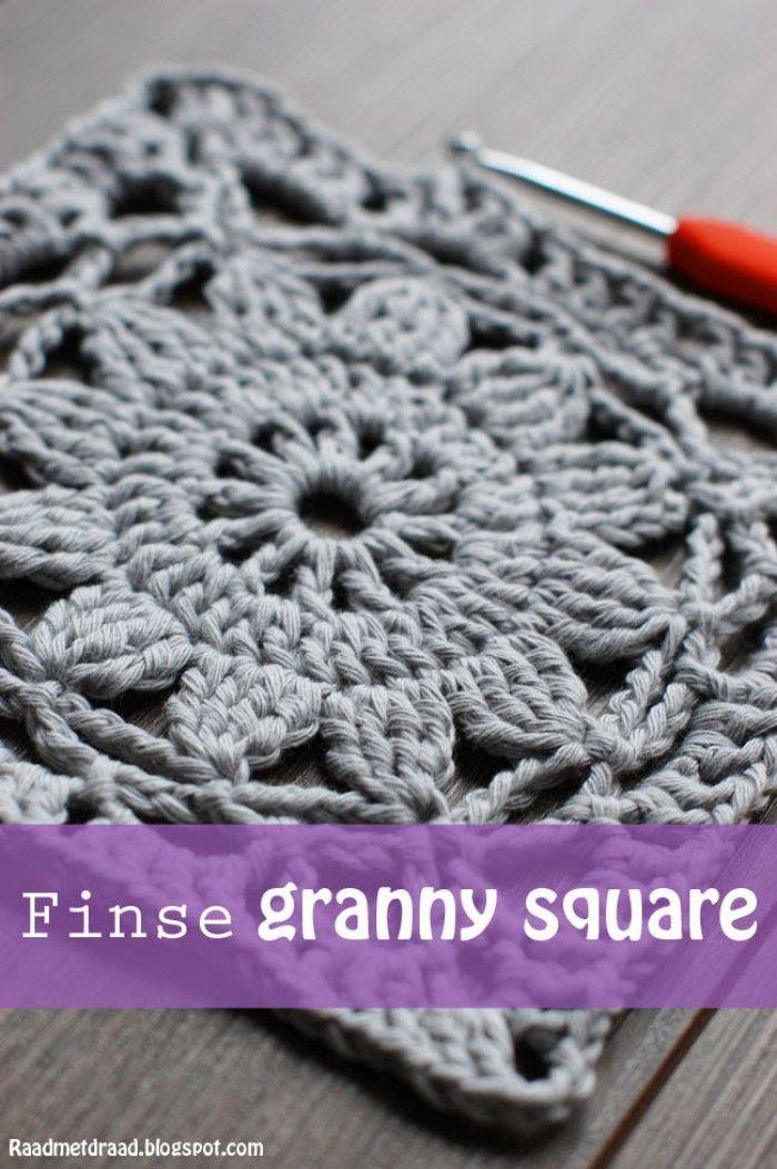 Haakpatroon Finse granny square | Virkkausideoita | Pinterest ...