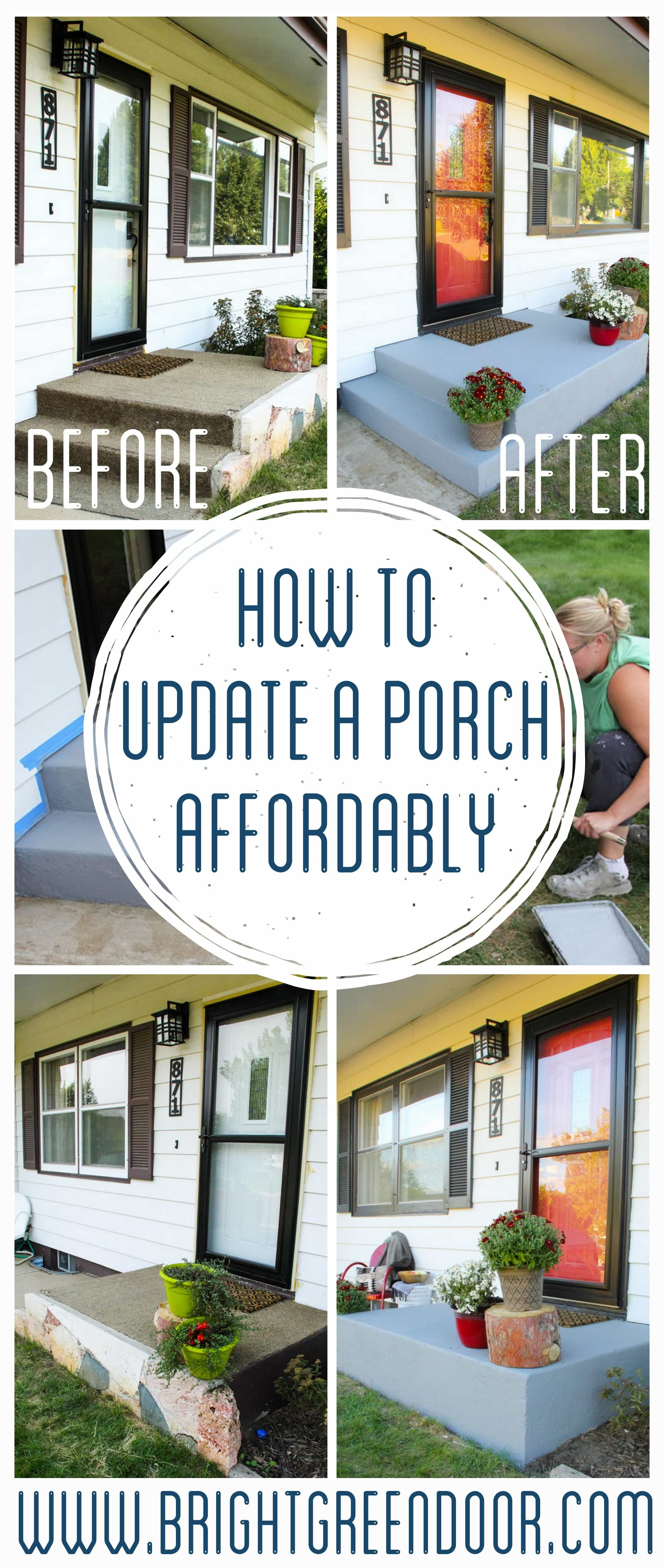 An Affordable Porch Makeover #porchpaintideas