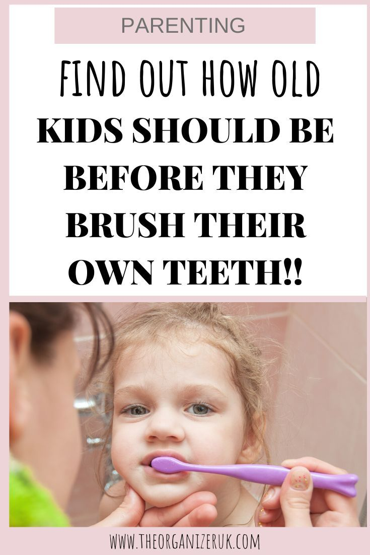 How old should kids really be before they can brush their own teeth? #teeth #kidsteeth #kidstoothbrushing #kids #parenting #parentinghacks #parentingtips #parentingtricks