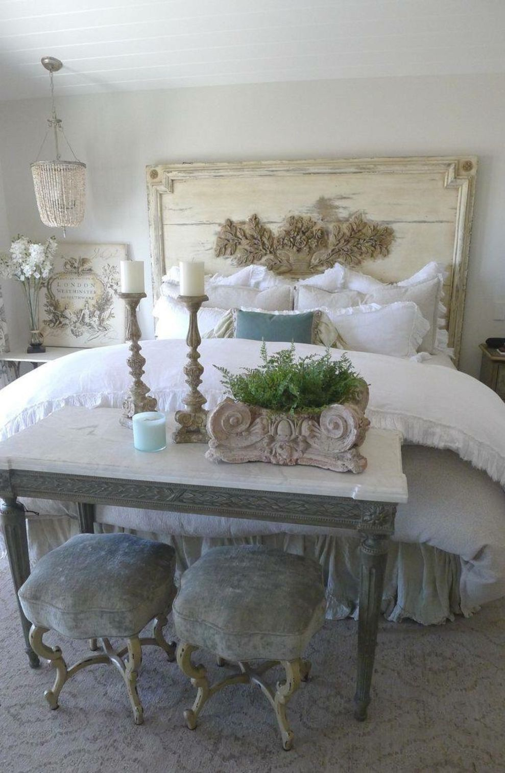 Awesome French Country Bedroom Decoration 40 Shabby Chic Decor