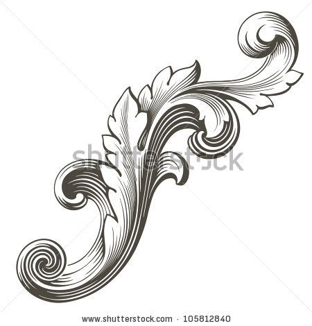 Tattoo filigree pattern tattoos vintage baroque design for Baroque design elements
