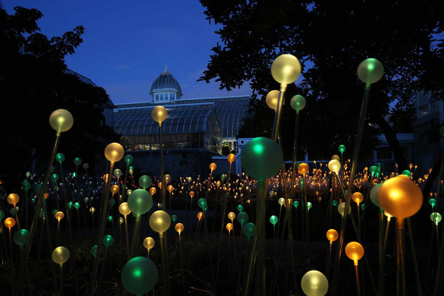 Franklin Park Conservatory Christmas Lights.Field Of Light 2013 By Bruce Munro Heaven In 2019 Light