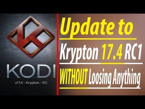 how to update kodi krypton
