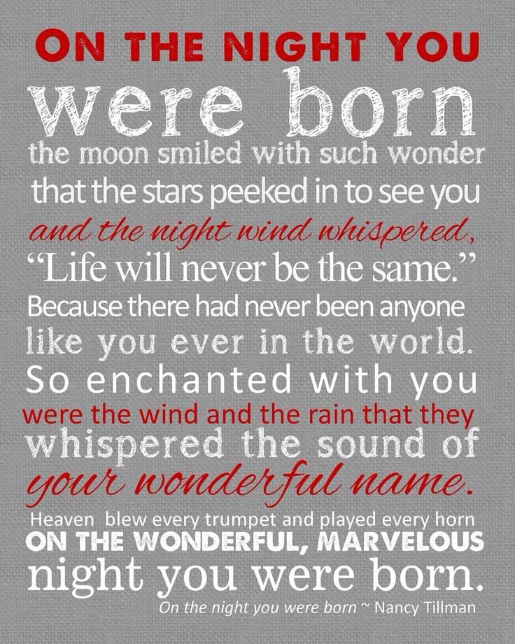 Nice Words For Birth Of Baby Baby Quotes Birth Announcement Print Words