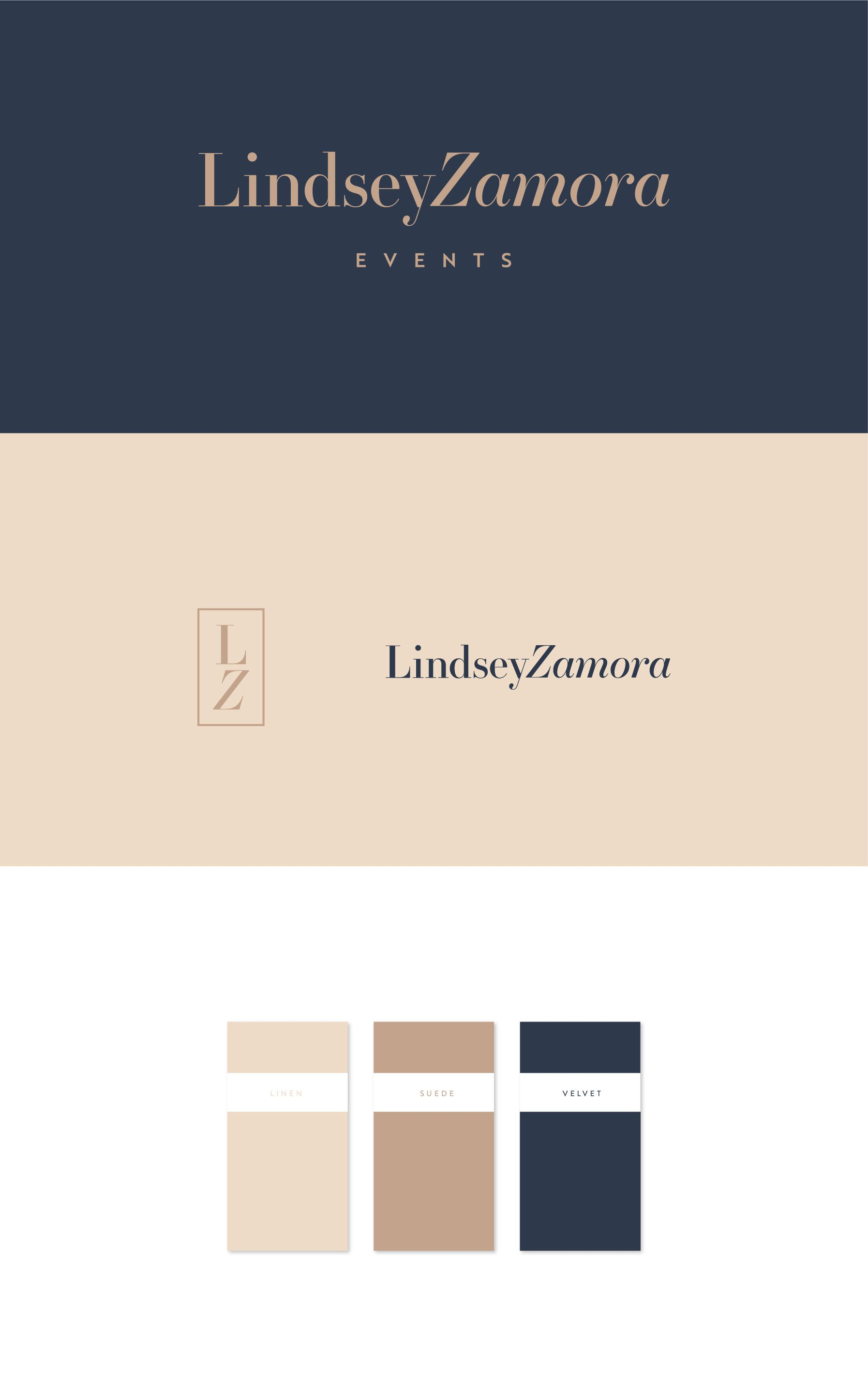 Lindsey Zamora is an event planner who needed a brand identity to