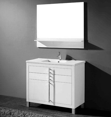 Adoos 36 Inch White Modern Bathroom Vanity Modern White Bathroom