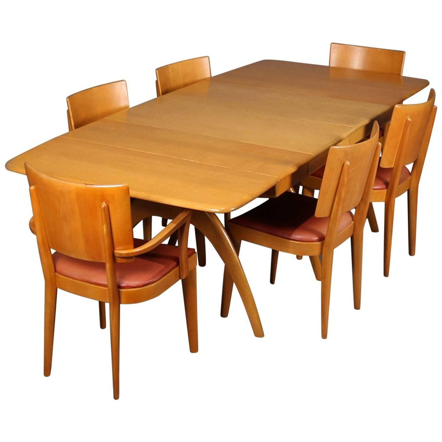 Heywood Wakefield Dining Chairs Mid Century Modern Wishbone Dining Table Set By Heywood Wakefield