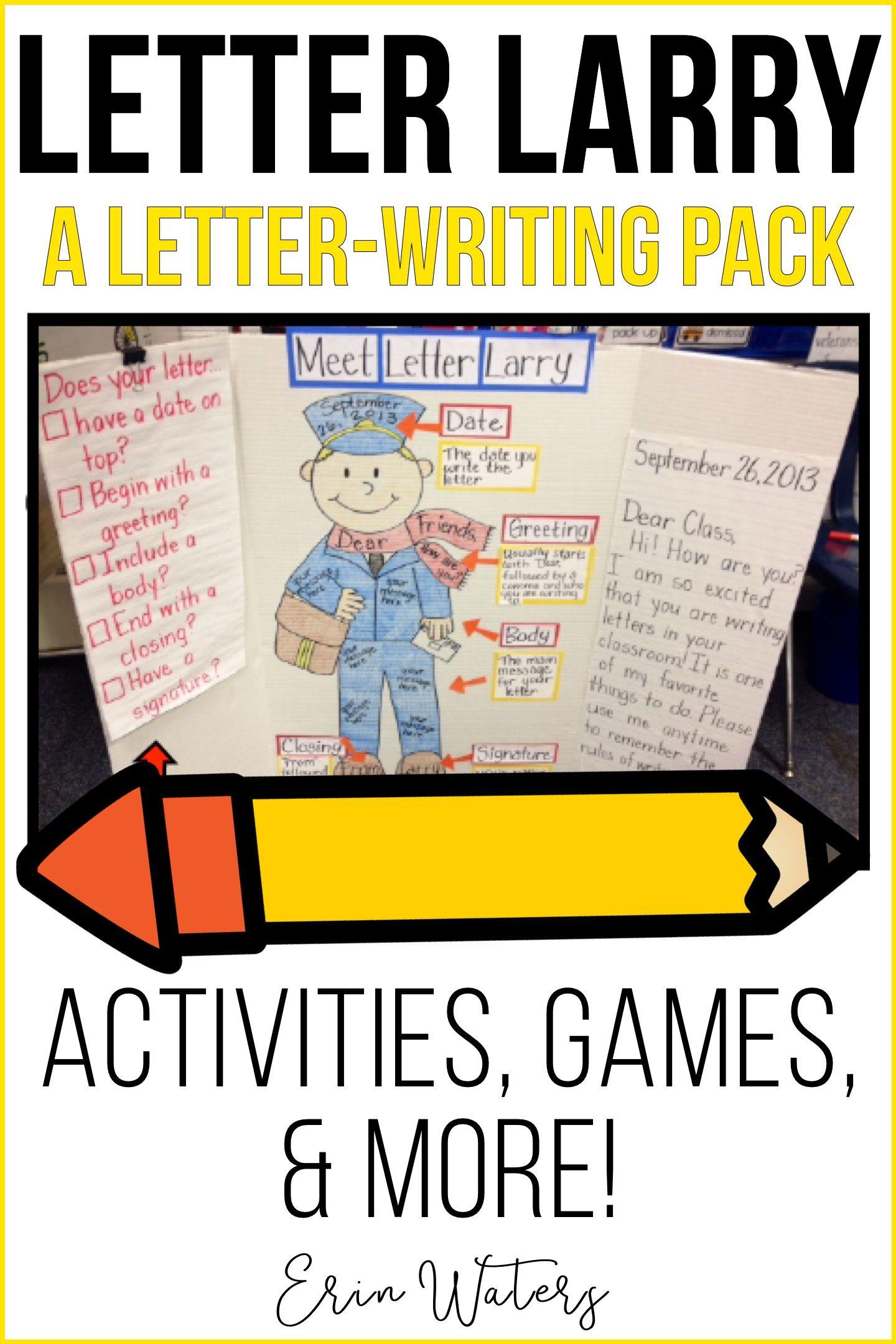 Letter Larry A Letter Writing Unit Pinterest