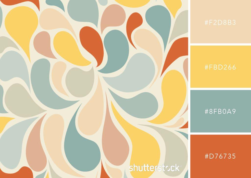 25 Retro And Vintage Color Palettes Free Swatch Download Retro Color Palette Vintage Color Schemes Vintage Colour Palette