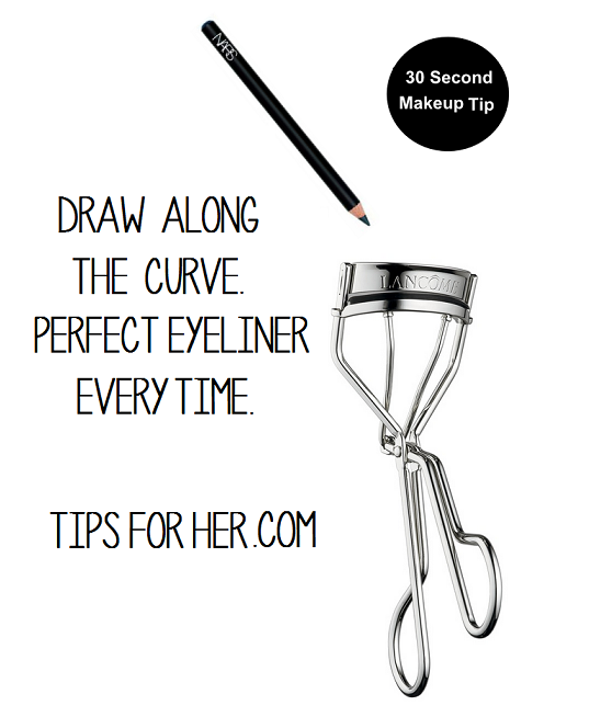 eyelash curler drawing. draw along the curve on upper part of eyelash curler for a perfect eyeliner drawing t