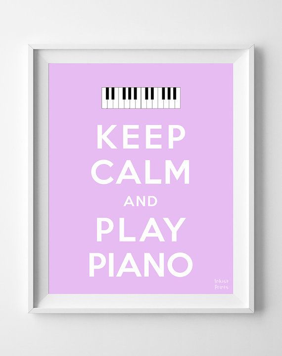 Keep Calm and Play Piano Poster musician Print by InkistPrints, $11.95