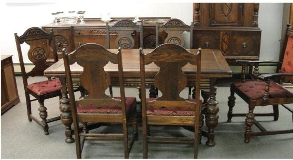 Dining Table Antique Dining Room Furniture 1920 Set Antique With
