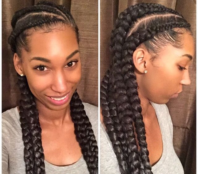 Ghana Braids Can Be Achieved By Using Your Natural Hair If Desired