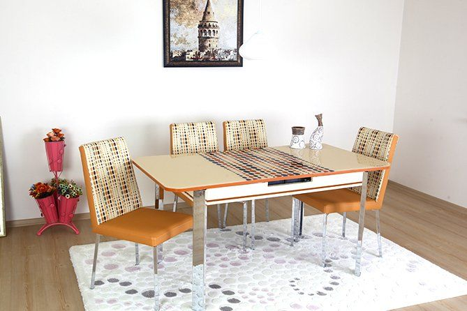 Always Star Verve Cream dining table and chairs extendable