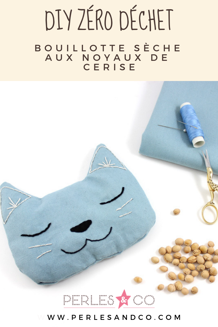 DIY Bouillotte sèche chat avec noyaux de cerises