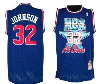 9434a4982 inexpensive nba 1992 all star 32 magic johnson blue swingman throwback  jersey 94312 70f3e