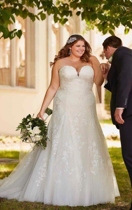 Courtesy of Stella York wedding dresses; 6680+ Bombshell Plus-Size Wedding Dress… – plus size wedding dresses