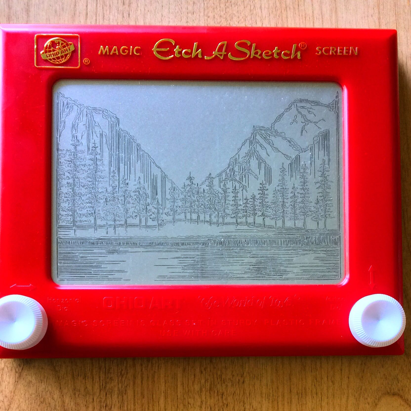 My old style etch a sketch art i made this its up