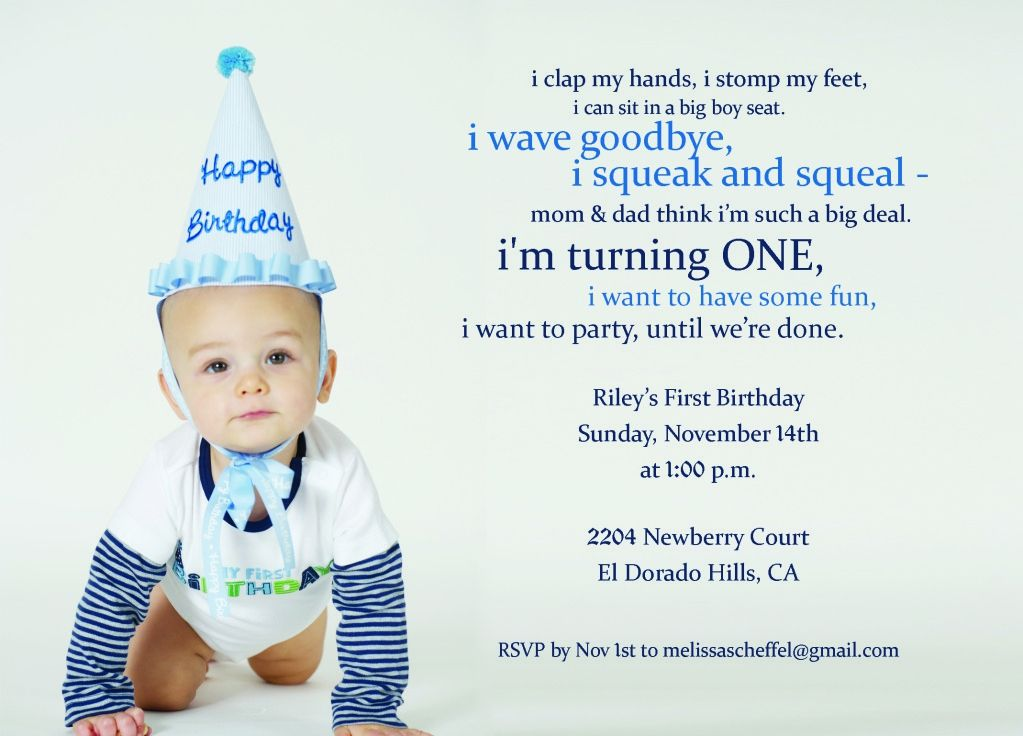 How To Write Invitations For Boys 1 Birthday Birthday