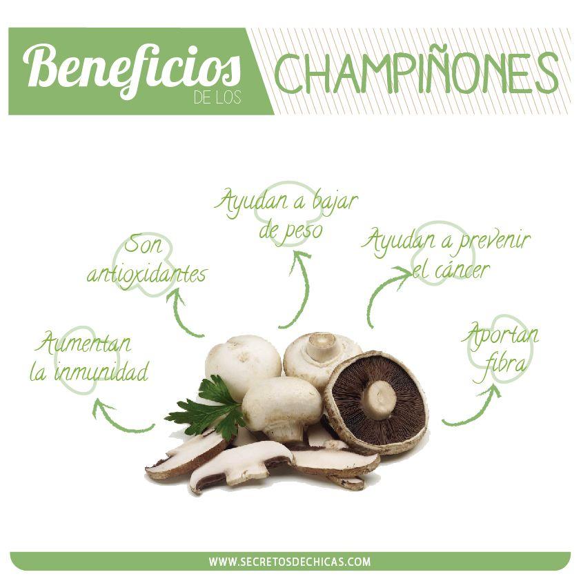 beneficios de los champinones