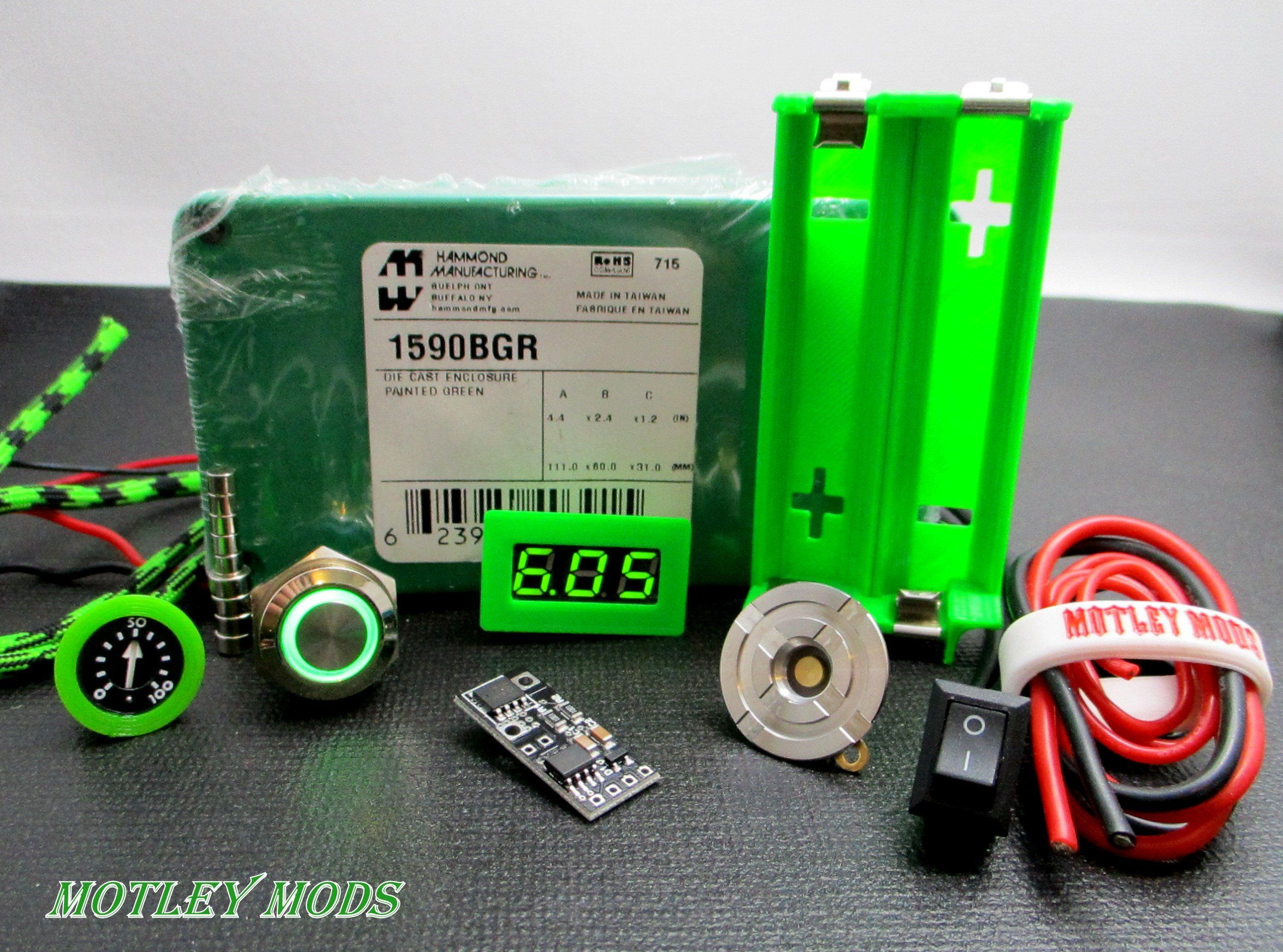 Box Mod kit 1590B Green,PWM in 2019 Diy box mod, Vape