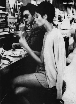 (Actually Christy Turlington inspired by Jean Seberg's style)
