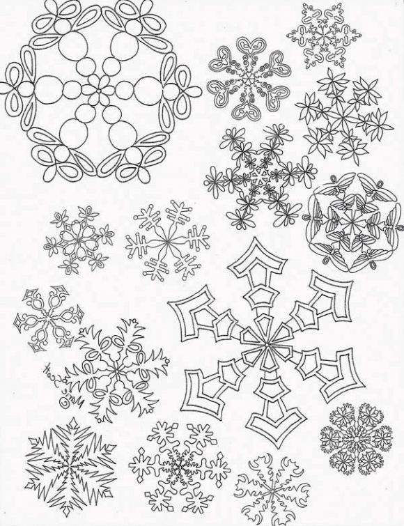 printable snowflake coloring picture for adults