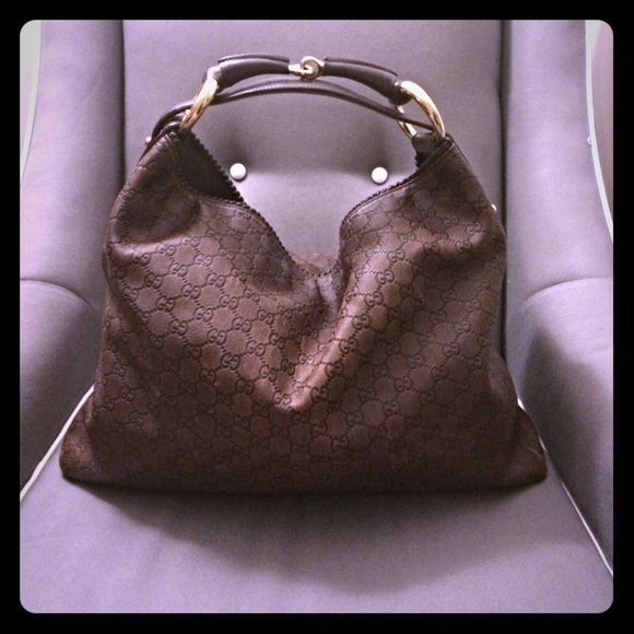 74bd64ce76a Authentic Gucci guccissima horsebit large hobo The Horsebit Hobo is one of  Gucci s most popular handbags