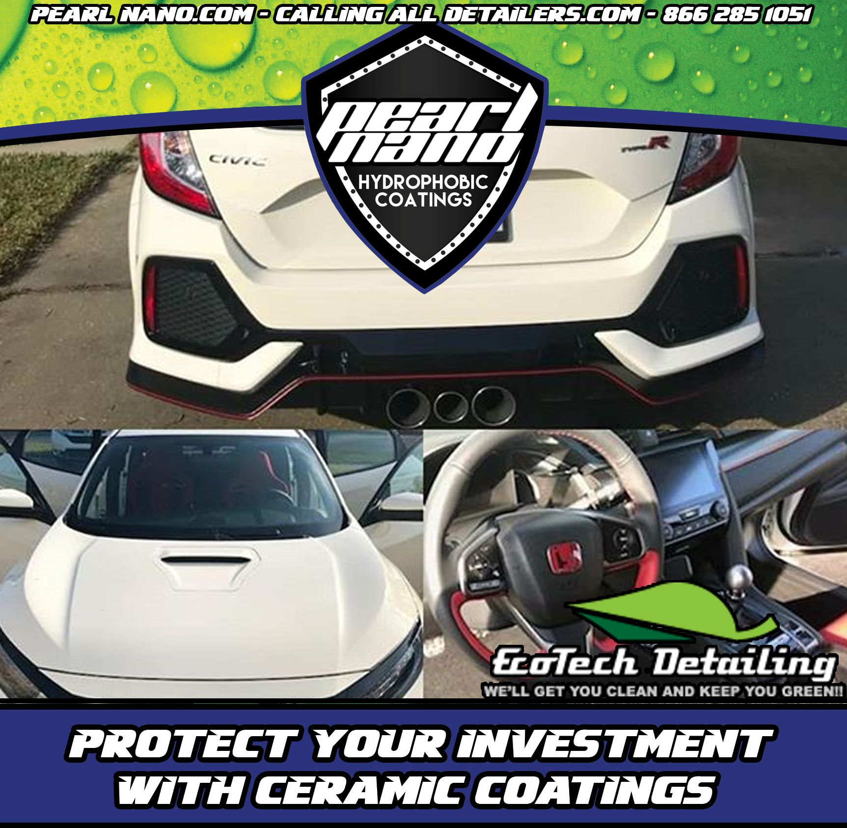 Honda Civic Type R 2017 Ceramic Coated with Pearl Nano by EcoTech