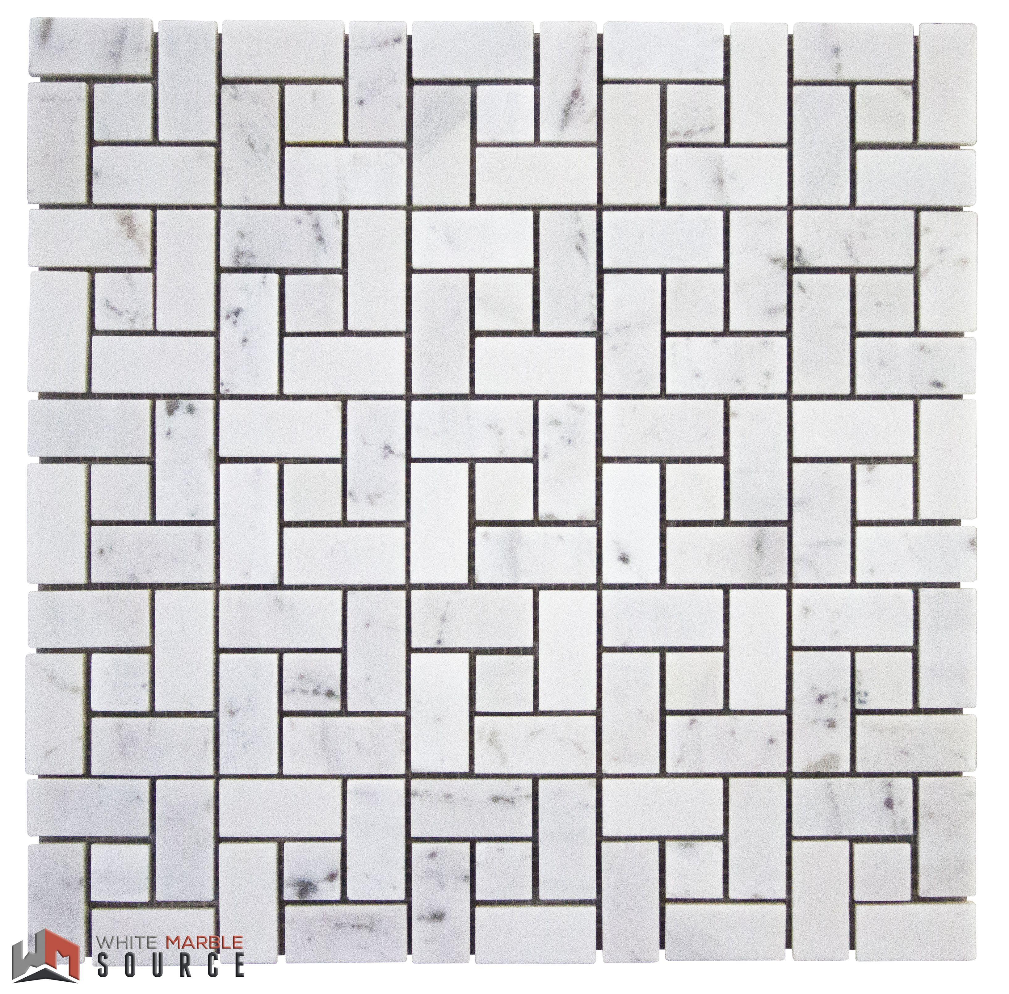 Your Tar Pinwheel mosaic in Bianco Sivec Standard WhiteMarbleSource marble mosaic tile slab naturalstone stone design