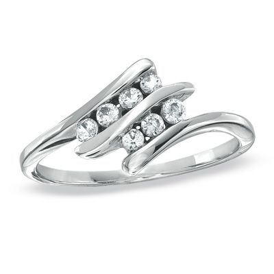 1/4 CT. T.W. Diamond Double Bypass Ring in Sterling Silver  ITEM #:18134320  $219.00