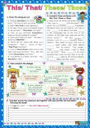 english worksheet this that these those english worksheets english exercises english. Black Bedroom Furniture Sets. Home Design Ideas