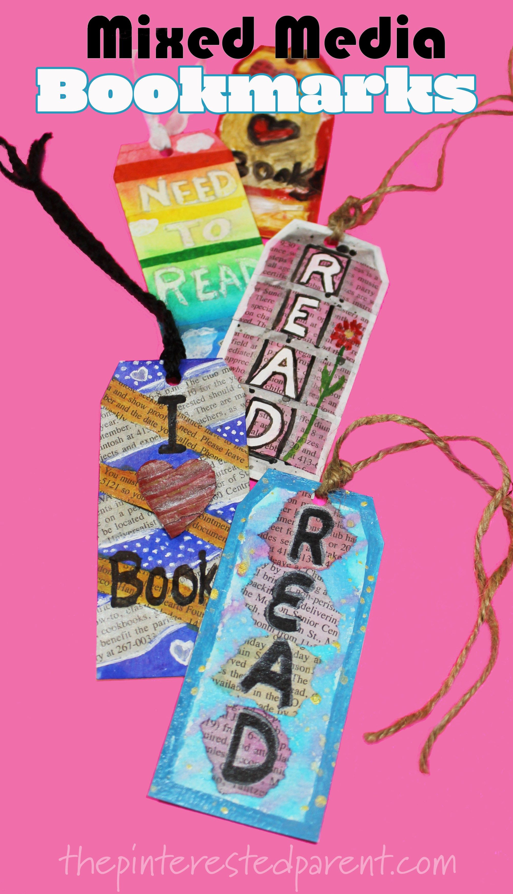 Mixed Media Bookmarks For Kids Sponsored By Reading Eggs Arts