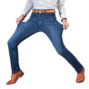 e2c25659568 Vomint Men s Jeans High Stretch Fashion Black Blue Denim Brand Men Slim Fit  Jeans Size 30 32 34 35 36 38 40 42 Pants Jean