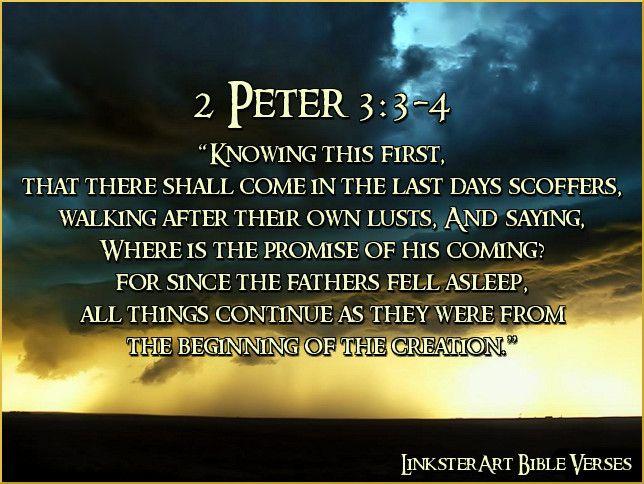 Image result for 2 Peter 3:3-4 kjv