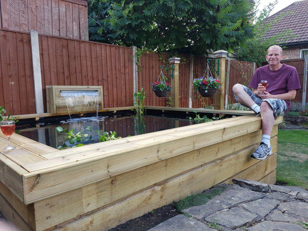 Image Result For Railway Sleeper Pond Designs Diy Ponds Backyard Small Garden Fish Ponds Raised Pond