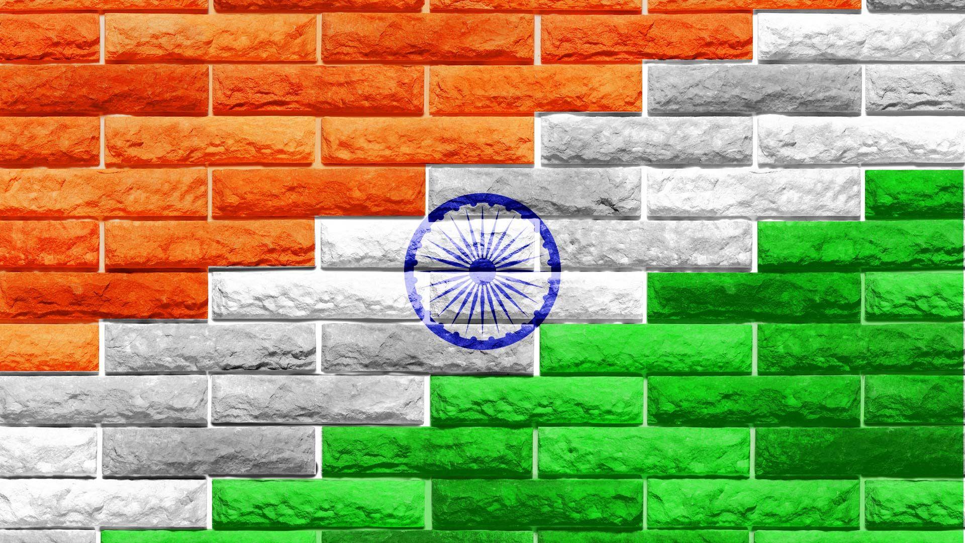Indian Flag Bricks Indian Flag Pinterest Indian flag Flags