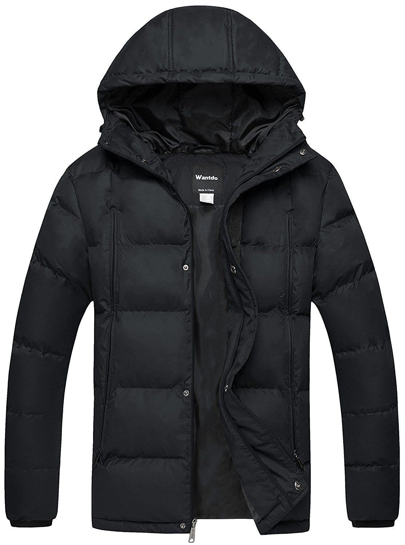 Men S Puffer Jacket Warm Heavyweight Quilted Hooded Windbreaker Outdoor Coat Black C4185m2o5cd Mens Puffer Jacket Outdoor Coats Mens Winter Fashion [ 1500 x 1114 Pixel ]
