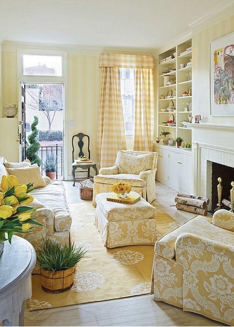 Yellow Homedecor Yellow Living Room Striped Walls Living Room