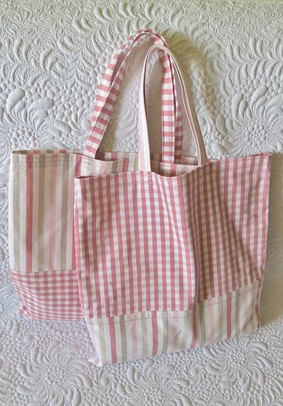 Quick Shopping Bag Pattern Bag patterns to sew, Sewing