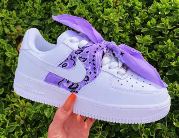 Purple Bandana AF1 Hype shoes, Aesthetic shoes, Nike air