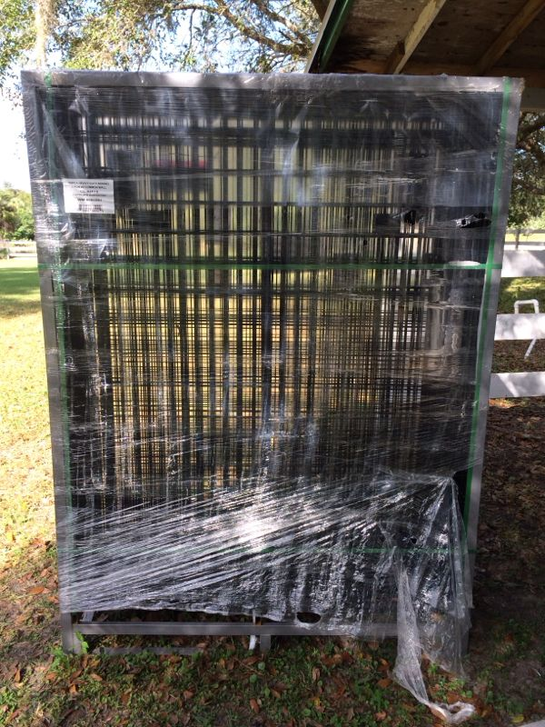 tegu cage 1 black coated welded wire dog kennel it will be 10 x25
